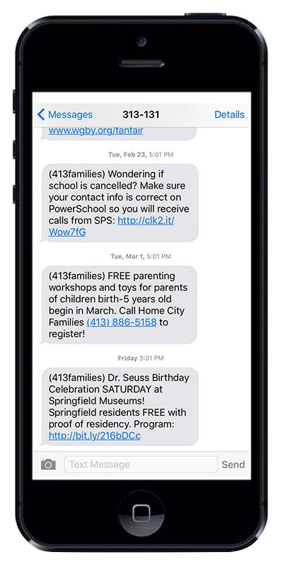 Community texting program