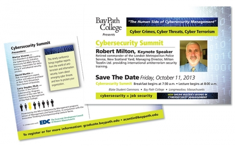 Bay Path Cybersecurity Postcard